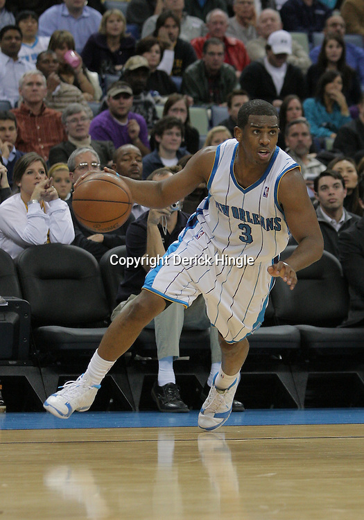 19 November 2008: New Orleans Hornets guard Chris Paul (3) in action during the Sacramento Kings 105-96 win over the New Orleans Hornets at at the New Orleans Arena in New Orleans, LA..