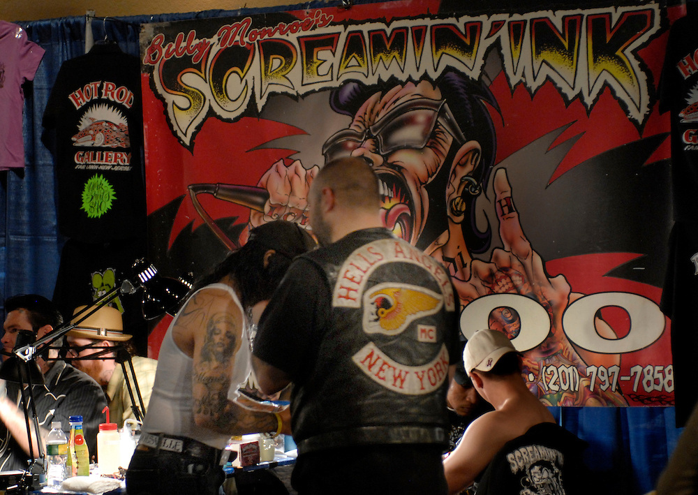 New York City Tattoo Convention 2009 at the Roseland Ballroom: Screaming Ink stand.
