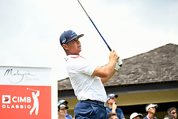 October 13, 2018 - Kuala Lumpur, Malaysia - Gary Woodland of United States in action during the third round of the CIMB Classic at TPC Kuala Lumpur on 13 October, 2018 in Kuala Lumpur, Malaysia  (Credit Image: © Chris Jung/NurPhoto via ZUMA Press)
