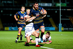 Matt Cox of Worcester Cavaliers breaks though - Mandatory by-line: Robbie Stephenson/JMP - 24/09/2018 - RUGBY - Sixways Stadium - Worcester, England - Worcester Cavaliers v Sale Jets - Premiership Rugby Shield