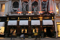 cartier shop at christmas in london
