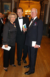 Left to right, DAME VIVIEN DUFFIELD the multi millionaire art benefactor, SIR NICHOLAS SEROTA and SIR JOCELYN STEVENS at the Royal Academy dinner before the official opening of the Summer Exhibition held at the Royal Academy of Art, Burlington House, Piccadilly, London W1 on 1st June 2005.<br /><br />NON EXCLUSIVE - WORLD RIGHTS