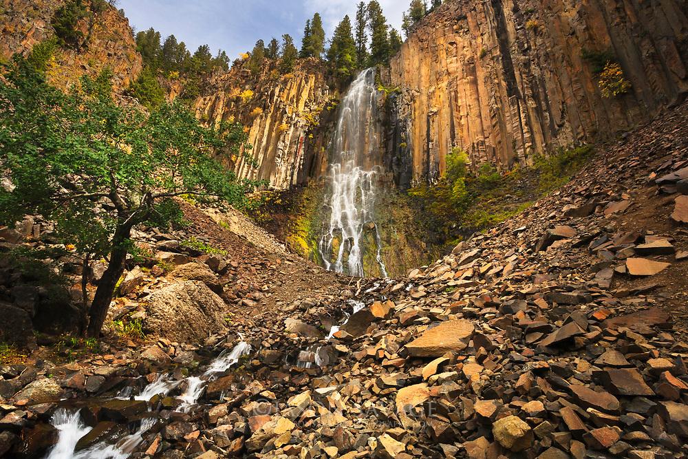 Palisade Falls near Bozeman, Montana.
