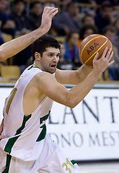 Saso Ozbolt (31) of Olimpija at basketball match of 4th Round of NLB League between KK Union Olimpija and KK Crvena zvezda,  on October 24, 2009, Arena Tivoli, Ljubljana, Slovenia.  Union Olimpija won 94:76.  (Photo by Vid Ponikvar / Sportida)