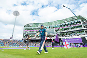 Picture by Allan McKenzie/SWpix.com - 19/05/2019 - Sport - Cricket - 5th Royal London One Day International - England v Pakistan - Emerald Headingley Cricket Ground, Leeds, England - England's Jonny Bairstow marches to the crease to open the innings against Pakistan.