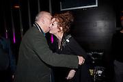 ALAN AYCKBOURN; KATHERINE PARKINSON, Absent Friends - press night  afterparty. Mint Leaf. Haymarket. London. Thursday 9 February 2012