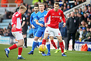 Charlton midfielder Krystian Bielik (4) during the EFL Sky Bet League 1 match between Peterborough United and Charlton Athletic at London Road, Peterborough, England on 26 January 2019.