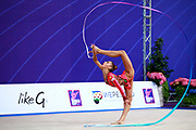 Aleksandra Soldatova is a Russian individual rhythmic gymnast born in 1998.<br />
