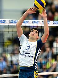 24-03-2013 VOLLEYBAL: ABIANT LYCURGUS - LANDSTEDE VOLLEYBAL: GRONINGEN<br /> Play-off finale best of 5 - Zwolle wint de vierde wedstrijd met 3-2 / Stijn Held<br /> &copy;2013-FotoHoogendoorn.nl