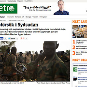 "Screengrab of ""SPLA soldiers"" published in METRO Sweden"