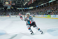 KELOWNA, CANADA - MARCH 27: Rourke Chartier #14 of Kelowna Rockets skates against the Tri-City Americans on March 27, 2015 at Prospera Place in Kelowna, British Columbia, Canada.  (Photo by Marissa Baecker/Shoot the Breeze)  *** Local Caption *** Rourke Chartier;