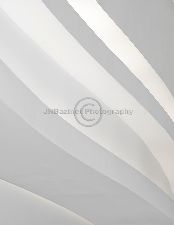 Full frame white, curving line pattern