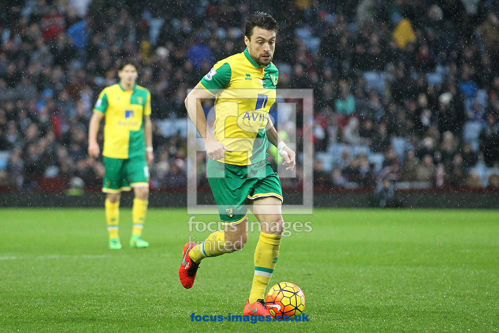 Russell Martin of Norwich in action during the Barclays Premier League match at Villa Park, Birmingham<br /> Picture by Paul Chesterton/Focus Images Ltd +44 7904 640267<br /> 06/02/2016