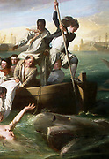 John Singleton Copley (1738 – 1815) American painter. Watson and the Shark (1778) depicts the rescue of Brook Watson from a shark attack in Havana, Cuba. (Detail)