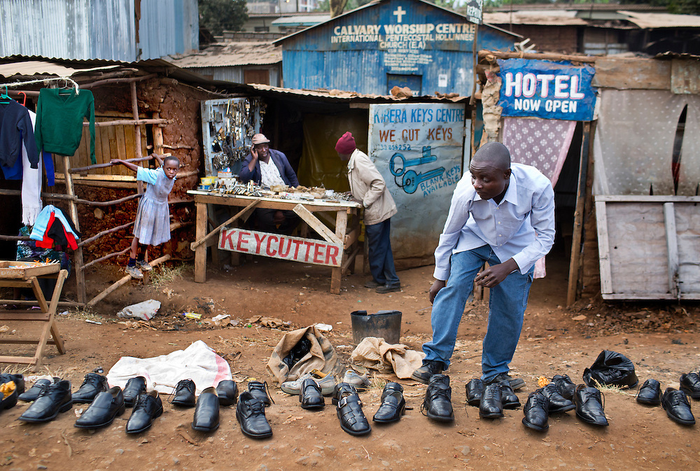Kibera, the largest slum in Africa.