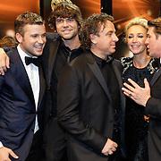 NLD/Amsterdam/20121019- Televiziergala 2012, the Voice winnaar, Winston Gerstanowitz, Simon Keizer, Marco Borsato, Wendy van Dijk, Martijn Krabbe