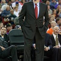 06 april 2008: Phil Jackson, head coach of the Los Angeles Lakers is seen during the Los Angeles Lakers 114-92 victory over the Sacramento Kings, at the Arco Arena, in Sacramento, California, USA.