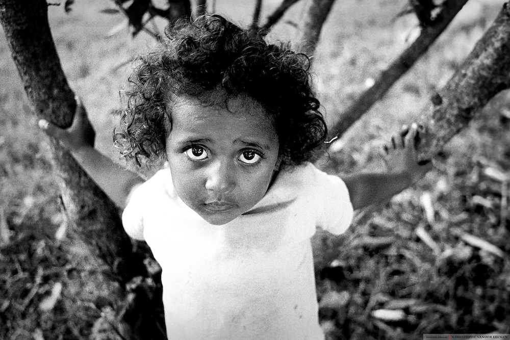 Amoreira, Brazil, Jan 15, 1996, Orphaned street child.