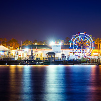 Newport Beach Balboa Fun Zone at night photo. The Balboa Fune Zone is a popular attraction in Orange County Southern California. Photo is high resolution. Copyright ⓒ 2017 Paul Velgos with All Rights Reserved.