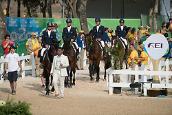 Team France, Gold medal, Laghouag Karim, Lemoine Mathieu, Nicolas Astier, Vallette Thibaut, FRA<br /> Olympic Games Rio 2016<br /> © Hippo Foto - Dirk Caremans<br /> 09/08/16