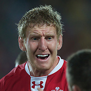 Bradley Davies, Wales, in action during the Australia V Wales Bronze Final match at the IRB Rugby World Cup tournament, Auckland, New Zealand. 21st October 2011. Photo Tim Clayton...