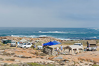 Korringkorrelbaai Camp Site on the coastline, Namaqua National Park, Northern Cape, South Africa,