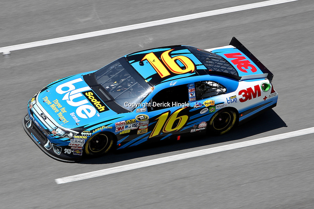 April 17, 2011; Talladega, AL, USA; NASCAR Sprint Cup Series driver Greg Biffle (16) during the Aarons 499 at Talladega Superspeedway.   Mandatory Credit: Derick E. Hingle