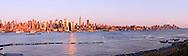 New York, New York CIty skyline from Weehawken, New Jersey