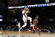 Vanderbilt Commodores guard Jordan Wright (4) scores a basket during an SEC Conference NCAA basketball game between the University of Alabama Crimson Tide and the University of Vanderbilt Commodores at Memorial Gymnasium in Nashville, TN