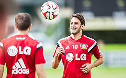 17.07.2014, Alois Latini Stadion, Zell am See, AUT, Bayer 04 Leverkusen Trainingslager, im Bild Hakan Calhanoglu (Bayer 04 Leverkusen) // Hakan Calhanoglu (Bayer 04 Leverkusen) during a Trainingssession of the German Bundesliga Club Bayer 04 Leverkusen at the Alois Latini Stadium, Zell am See, Austria on 2014/07/17. EXPA Pictures © 2014, PhotoCredit: EXPA/ JFK