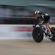 Racquel Sheath, New Zealand, in action during the Women Omnium, Flying Lap during the 2012 Oceania WHK Track Cycling Championships, Invercargill, New Zealand. 21st November 2011. Photo Tim Clayton