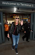 MAR 11 2014 Heidi Klum arrives at Heathrow Airport