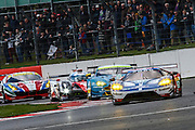 67 LMGTE Pro Ford Chip Ganassi Team UK / Ford GT / Marino Franchitti / Andy Priaulx / Harry Tinknel during the FIA World Endurance Championships at Silverstone, Towcester, United Kingdom on 17 April 2016. Photo by Craig McAllister.