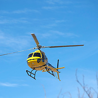 The new Medical Helicopter for Cibola General Hospital lands on the helicopter pad at the back of the facility in Grants Friday.