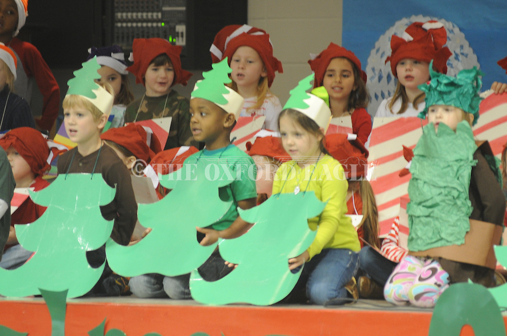 Lafayette Elmentary students perform Christmas on Candy Cane Lane, in Oxford, Miss. on Thursday, December 18, 2014. The play featured Christmas carols.