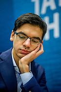 WIJK AAN ZEE - anis giri (NED) tijdens de derde ronde van de 81e editie van het Tata Steel Chess Tournament.  copyruyght robin utrecht