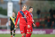 York City midfielder Luke Summerfield  during the Sky Bet League 2 match between York City and Morecambe at Bootham Crescent, York, England on 19 December 2015. Photo by Simon Davies.