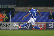 Ipswich Town midfielder Grant Ward (18)shoots at goal. Scores Goal during the EFL Sky Bet Championship match between Ipswich Town and Sunderland at Portman Road, Ipswich, England on 26 September 2017. Photo by Phil Chaplin.