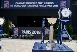Pokal<br /> Paris - FEI World Cup Finals 2018<br /> Longines FEI World Cup Jumping Final I<br /> www.sportfotos-lafrentz.de/Stefan Lafrentz<br /> 12. April 2018