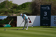 Cormac Sharvin (NIR) on the 3rd during Round 2 of the Oman Open 2020 at the Al Mouj Golf Club, Muscat, Oman . 28/02/2020<br /> Picture: Golffile | Thos Caffrey<br /> <br /> <br /> All photo usage must carry mandatory copyright credit (© Golffile | Thos Caffrey)