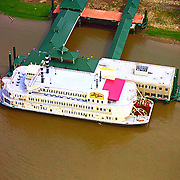 Aerial Photograph of Bella of Baton Rouge Casino Boat on the Mississippi River
