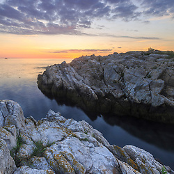 Sunrise on Appledore Island in the Isles of Shoals off the coast of Portsmouth, New Hampshire.