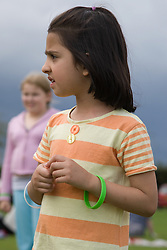 Portrait of a young Asian girl at a Parklife summer activities event,
