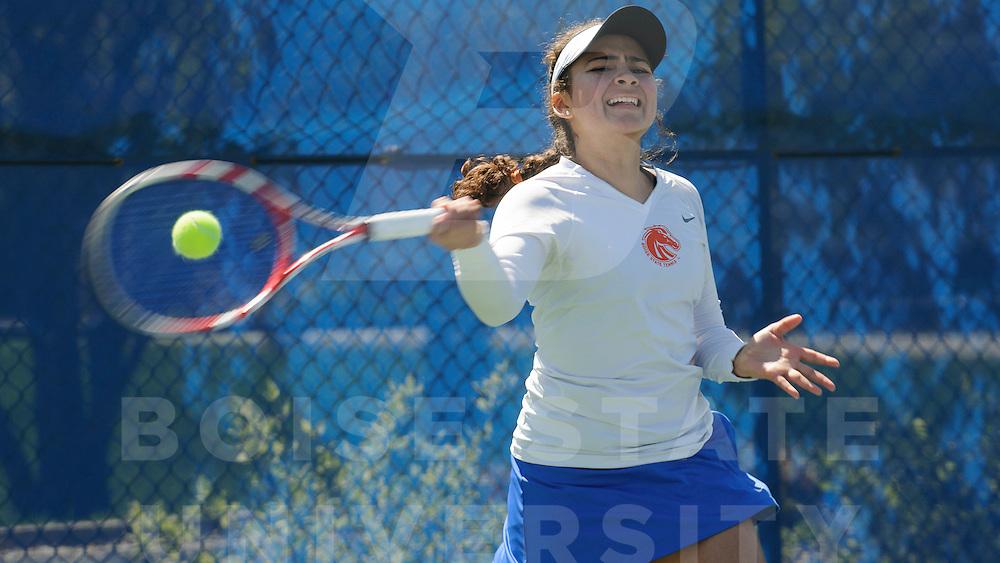 Women's Tennis vs. College of Idaho, Senior Day, Wankun Sirichotiyakul Photo