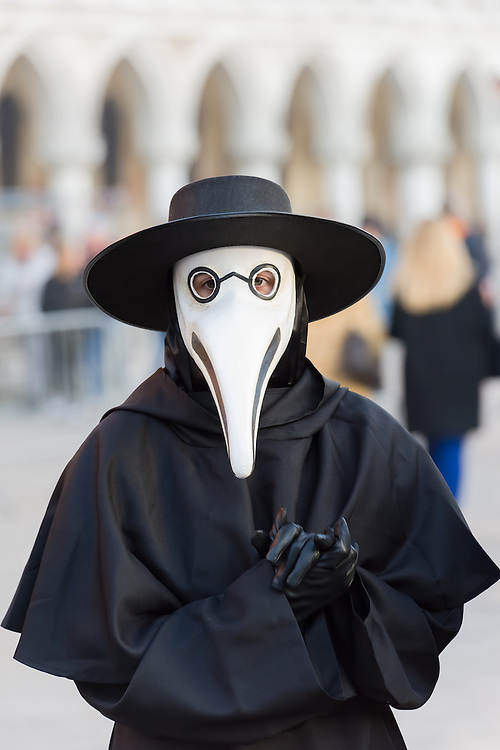 The traditional costume and mask of the Medico Della Peste