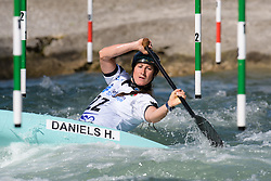 Haley DANIELS of Canada during the Canoe Single (WC1) Womens Semi Final race of 2019 ICF Canoe Slalom World Cup 4, on June 30, 2019 in Tacen, Ljubljana, Slovenia. Photo by Sasa Pahic Szabo / Sportida