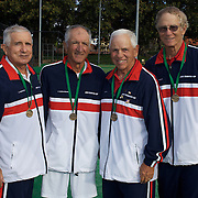Jack Crawford Cup Bronze Medalists, USA, Left to right, George Sarantos, Fred Farzanegan, Robert Quall and Robert Duesler, during the 2009 ITF Super-Seniors World Team and Individual Championships at Perth, Western Australia, between 2-15th November, 2009.