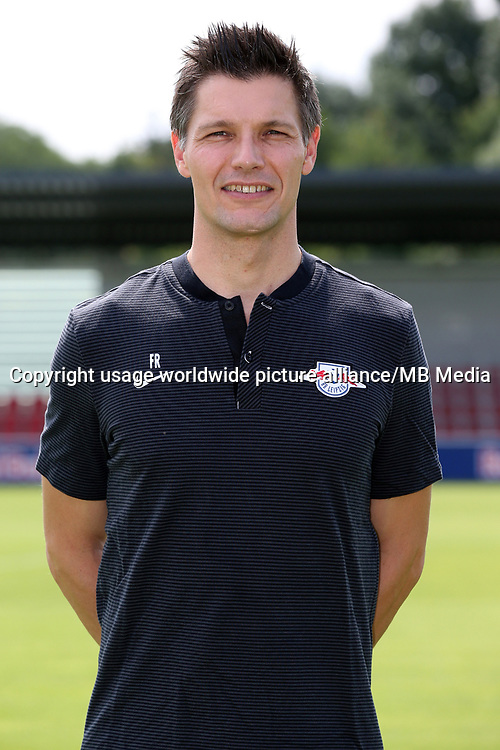 HANDOUT - German Bundesliga, official photocall RB Leipzig for season 2017/18 in Leipzig, Germany: athletic coach Frank Rossner.  Photo: GEPA pictures/ RB Leipzig - For editorial use only. Image is free of charge.  ATTENTION: use only for editorial purposes in conjunction with full source indication.   usage worldwide