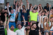 MELBOURNE, VIC - MARCH 01: Fans attempt to begin a Mexican wave at The Super Rugby match between Melbourne Rebels and Highlanders on March 01, 2019 at AAMI Park, VIC. (Photo by Speed Media/Icon Sportswire)