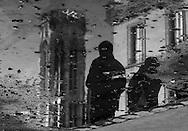 France Paris Pedestrians shadows  on Rue de Rivoli / ombre des passant a Paris
